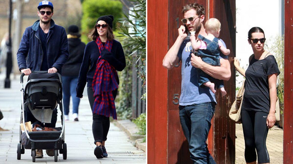 Jamie Dornan con su familia