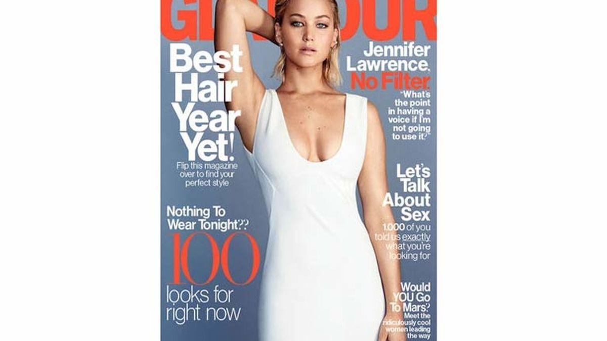 Jennifer Lawrence, portada de Glamour