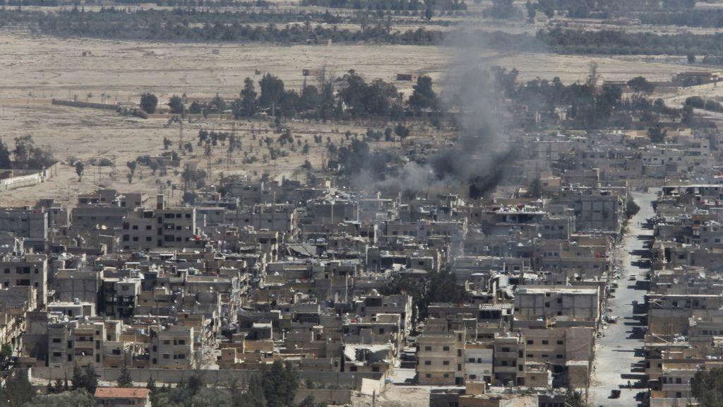 La ciudad de Palmira tras ser arrebatada al Estado Islámico