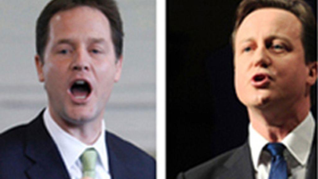Clegg y Cameron