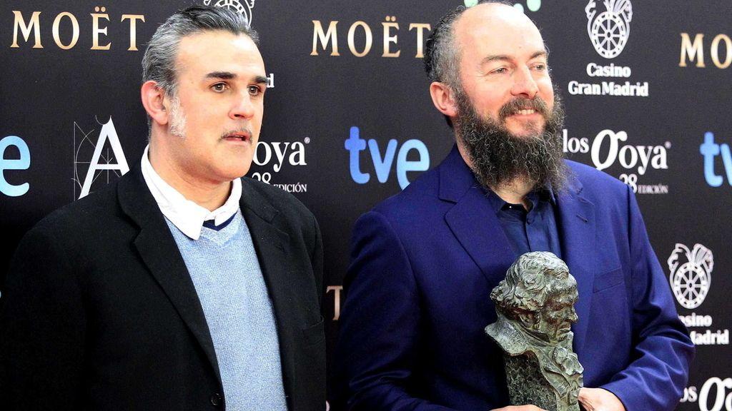"""Arturo García """"Biaffra"""" y José Luis Arrizabalaga """"Arri"""",  Goya a la """"Mejor dirección artística"""""""