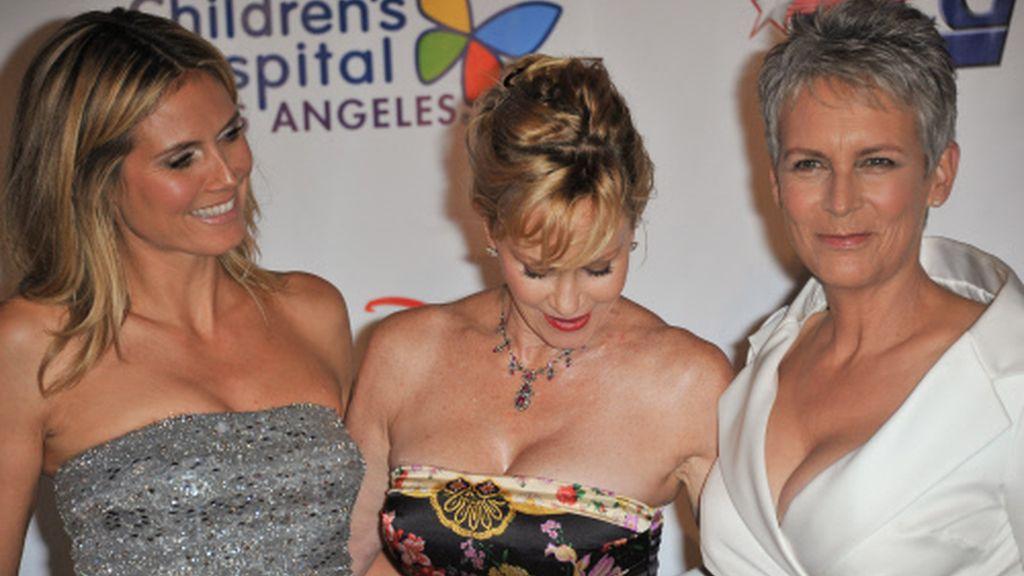 Trío de ases: Heidi, Melanie y Jamie Lee Curtis