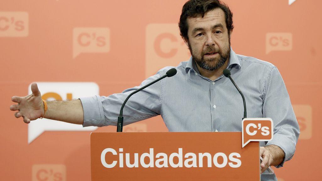 Miguel Gutiérrez, secretario general del Grupo Parlamentario de Ciudadanos