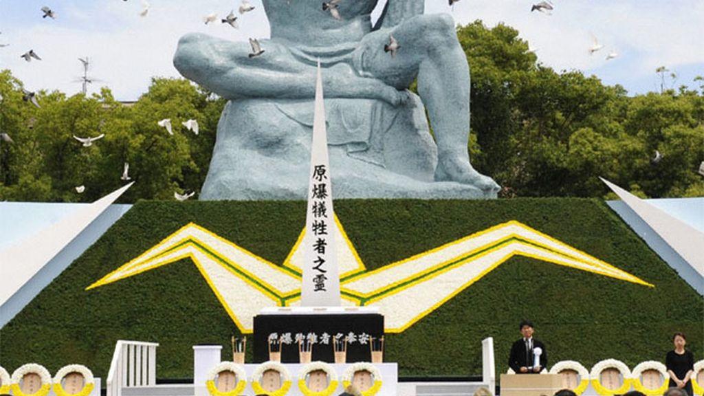 Conmemoración del 64 aniversario de la bomba atómica en Nagasaki
