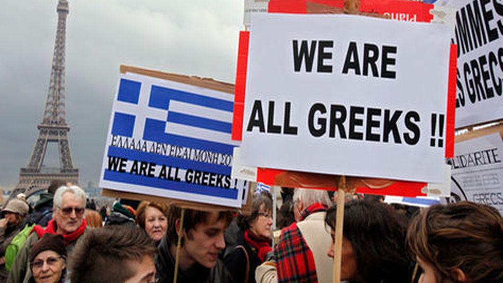 Apoyo a Grecia en París