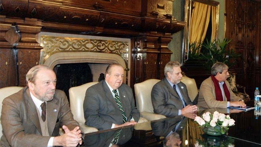 La Comisión de Enlace durante una reunión con la presidenta Cristina Fernández Kirchner