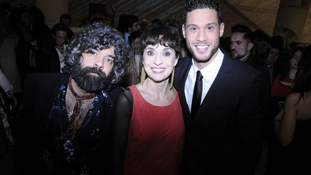 Fede Celada, Adriana Ozores y José Lamuño