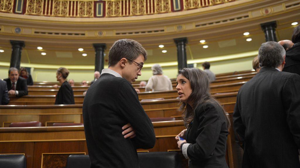Caras nuevas en el Congreso: Errejón e Irene Montero