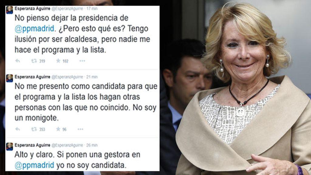 Esperanza Aguirre y declaraciones en Twitter