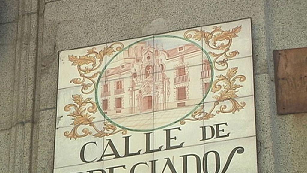 Cartel de la calle Preciados de Madrid