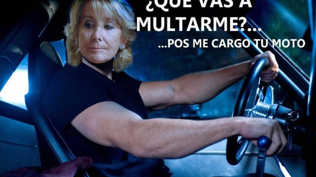 El Photoshop se ceba con el incidente de Esperanza Aguirre