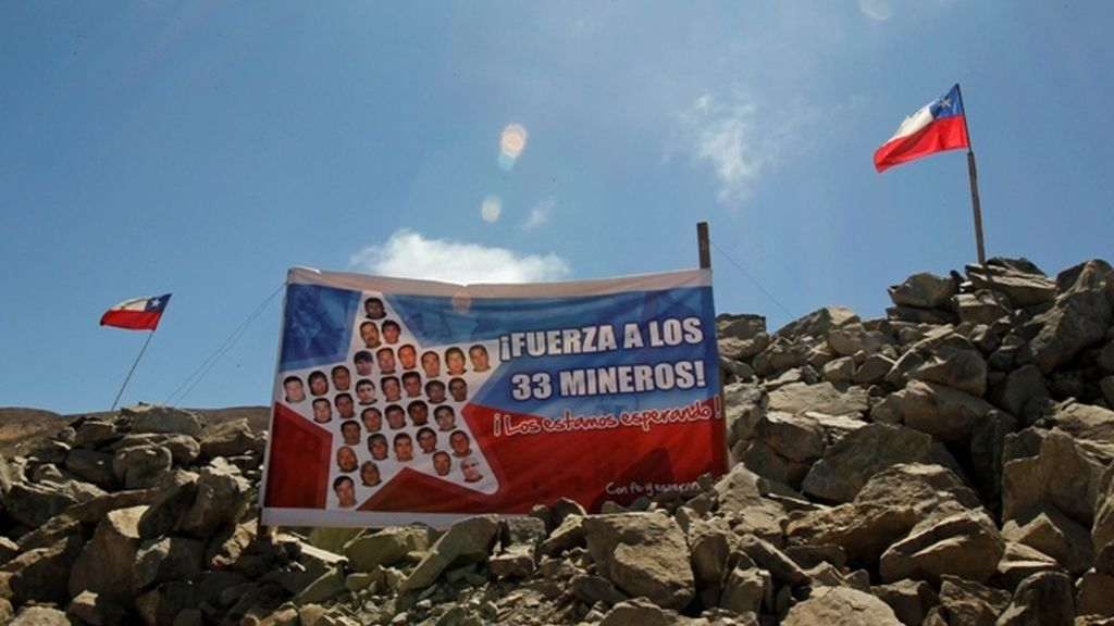 Mensaje de apoyo para los mineros chilenos