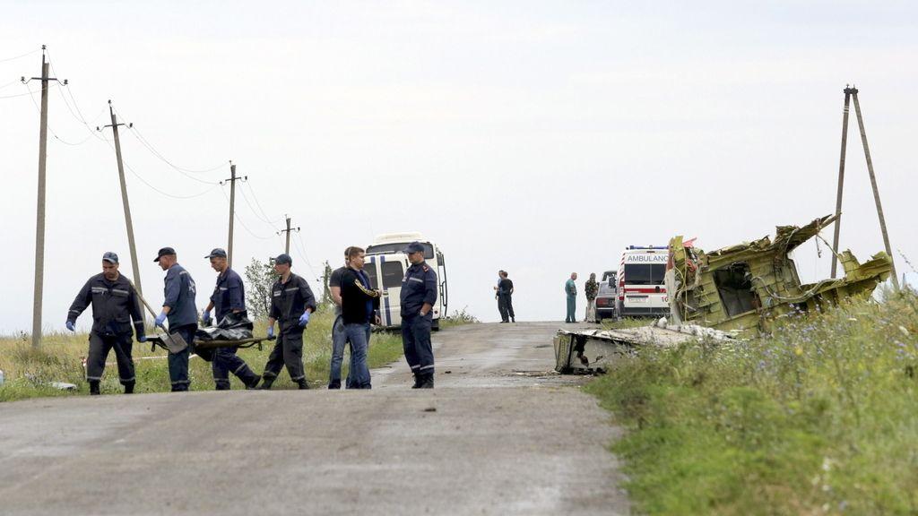 Rercuperación cuerpos Malaysian Airlines