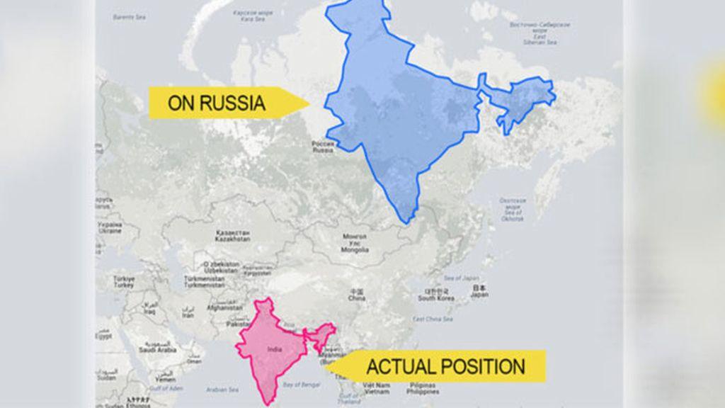La proyección de Mercator distorsiona el tamaño de los países