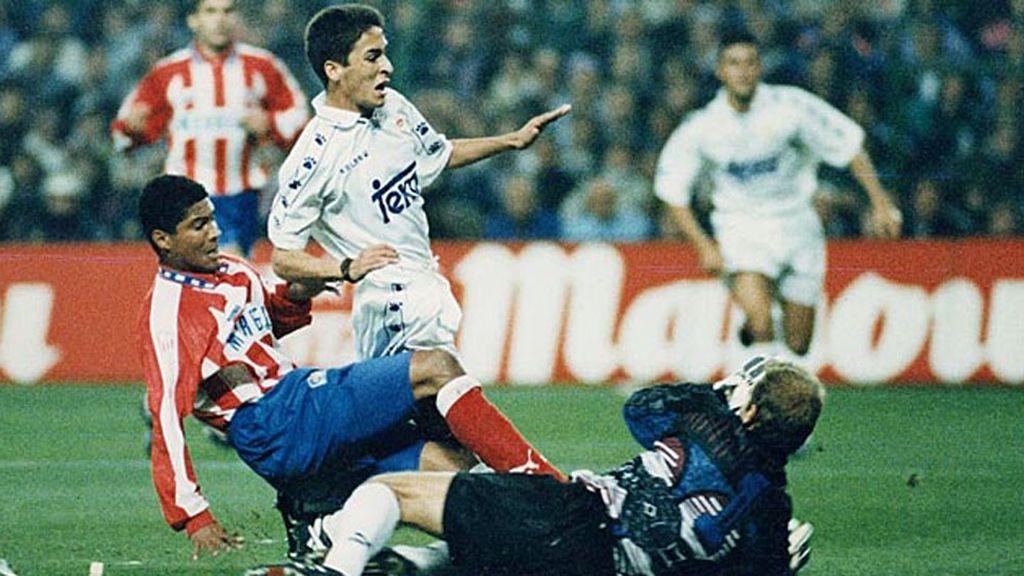 Marcó su primer gol el 5 de noviembre del 94 ante el Atlético de Madrid