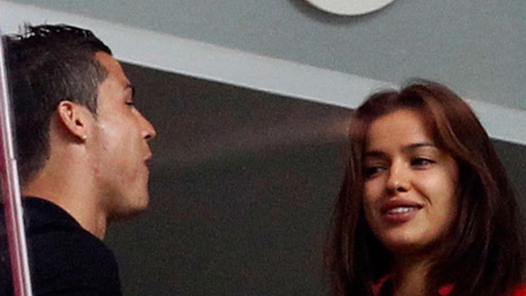 Cristiano vio el partido con su novia Irina
