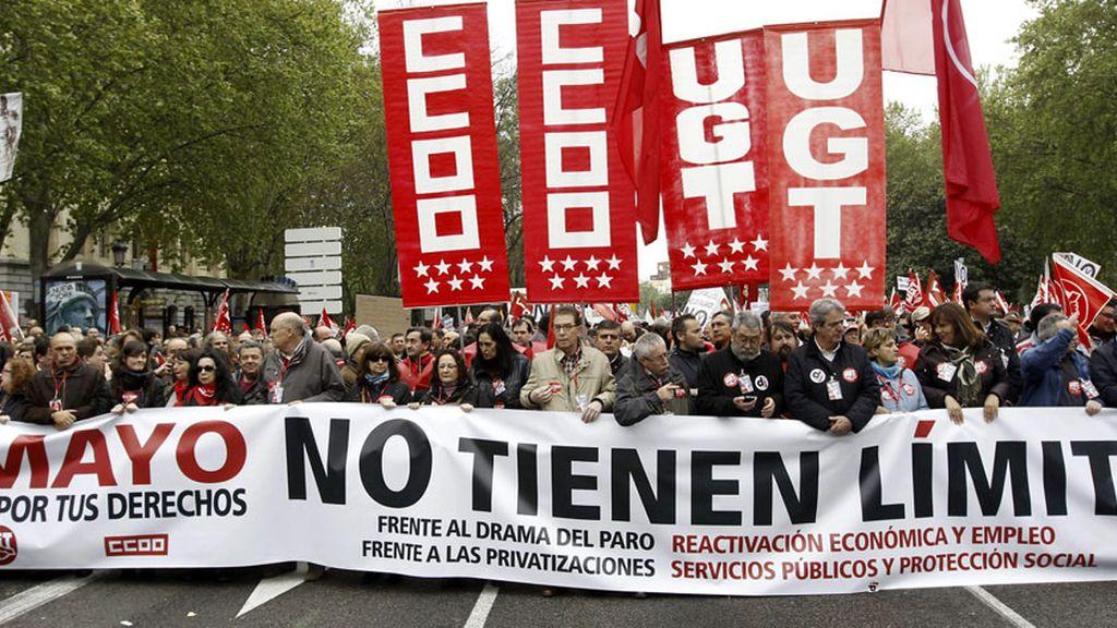 Manifestación del Día del Trabajo en Madrid
