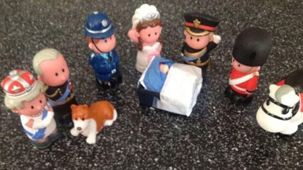 La Familia Real en figuras de plástico