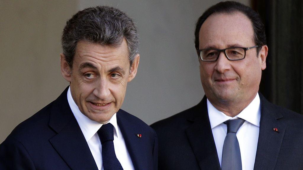 Hollande y Sarkozy se reúnen tras los atentados
