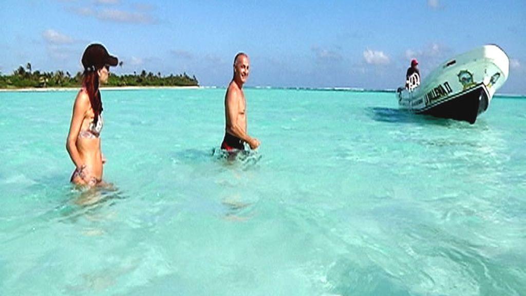 Típico día de sol y playa en el Caribe mexicano