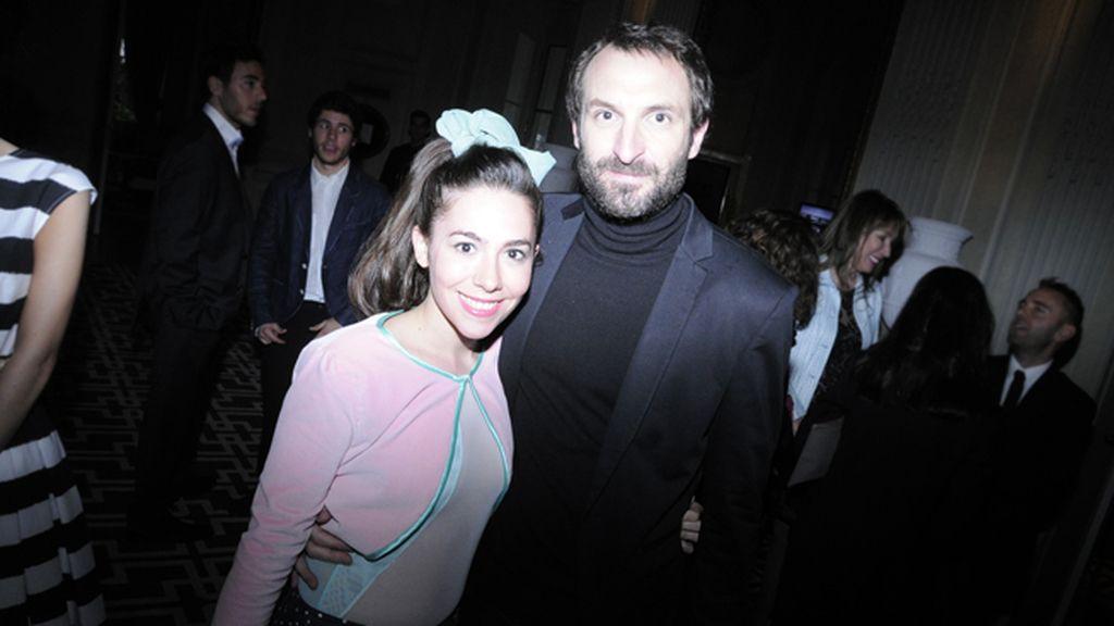 Claudia Pérez y Julián Villagrán a su llegada al espléndido Hotel Santo Mauro