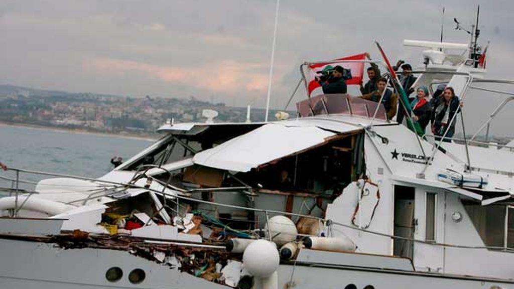 Israel embiste un barco con medicamentos