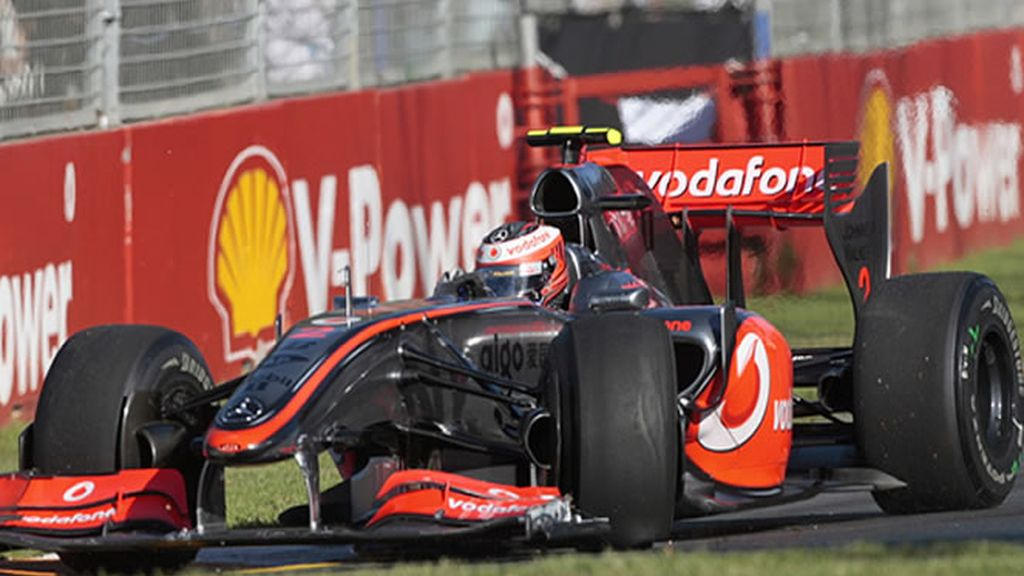 El Mercedes de Kovalainen no acabó la carrera