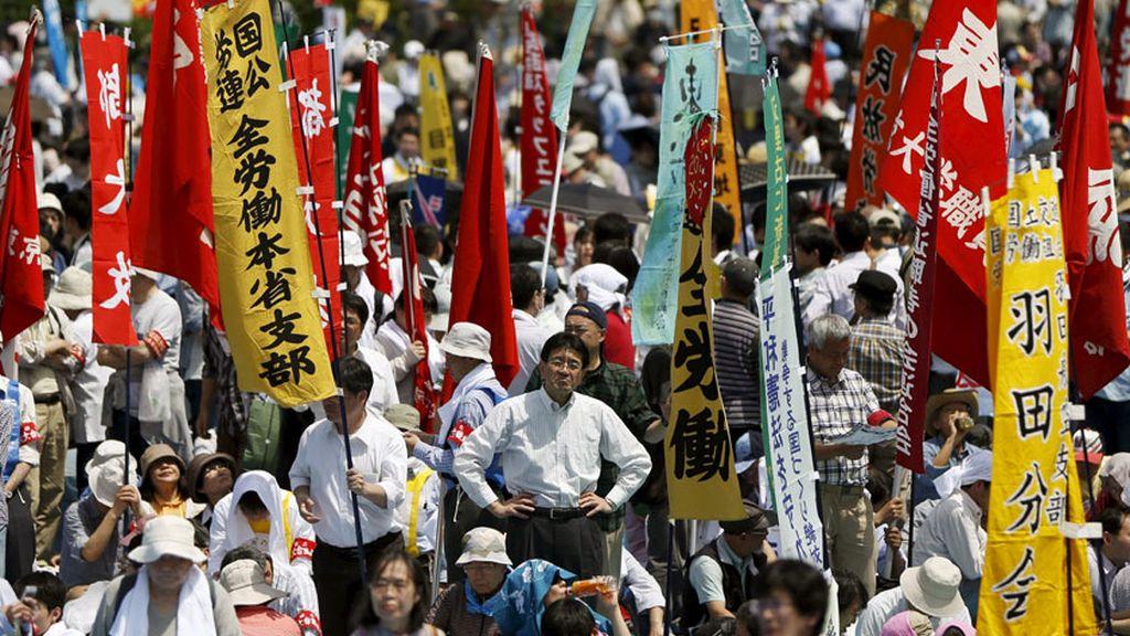 Marcha central de los trabajadores en Japón