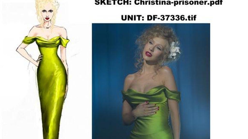 Los bocetos del vestuario de 'Burlesque'