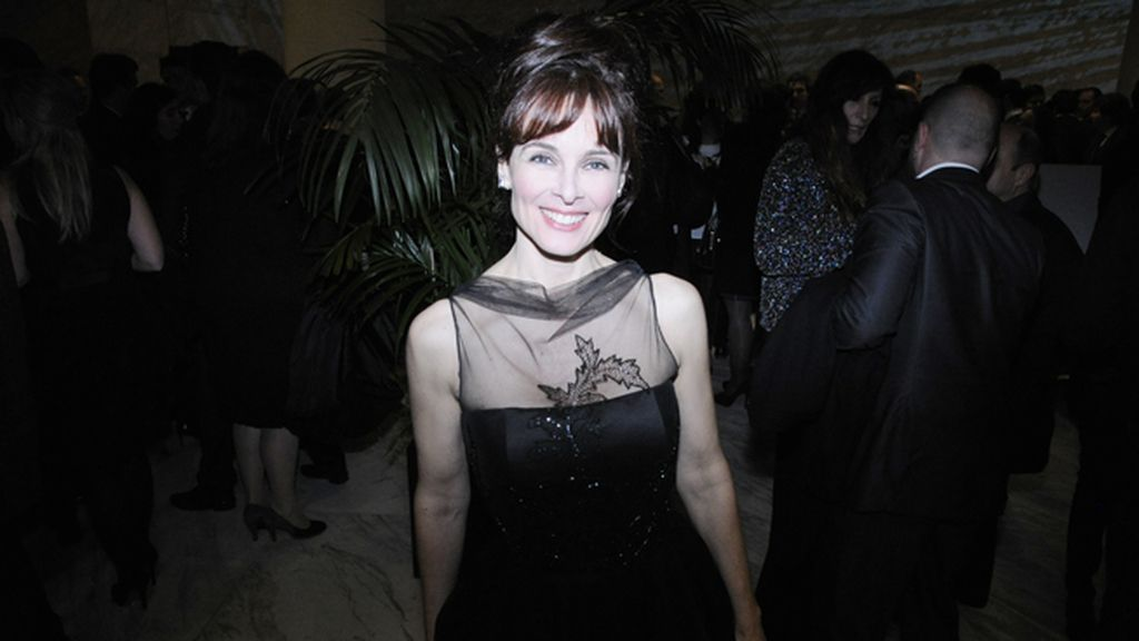 Silvia Marsó acudió muy elegante con un diseño de Pepe Botella