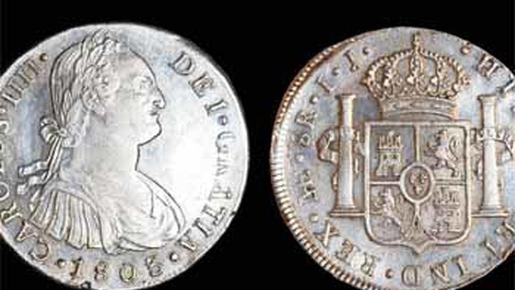 Monedas recuperadas en el Odyssey
