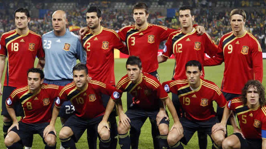 El once titular de la Selección Española ante Suráfrica