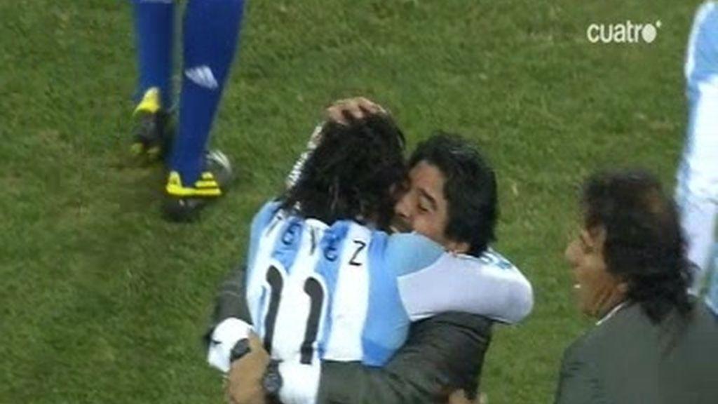 Golazo de Tévez y ya van tres para Argentina (Argentina 3 - 0 México)
