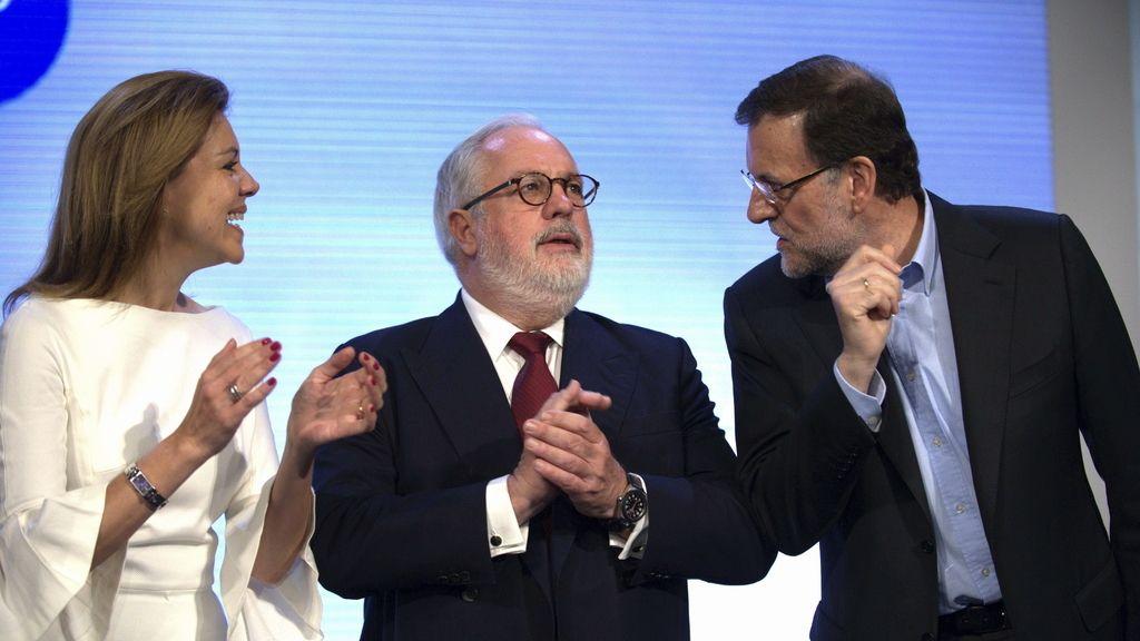 Mariano Rajoy, con Cañete y Cospedal en Toledo