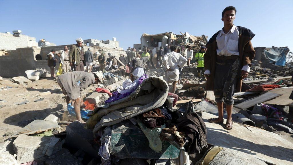 Bombardeo de las fuerzas saudíes en Yémen