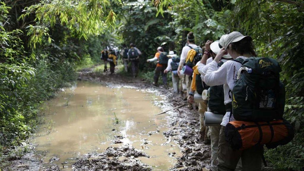 Marcha por la selva del Darién