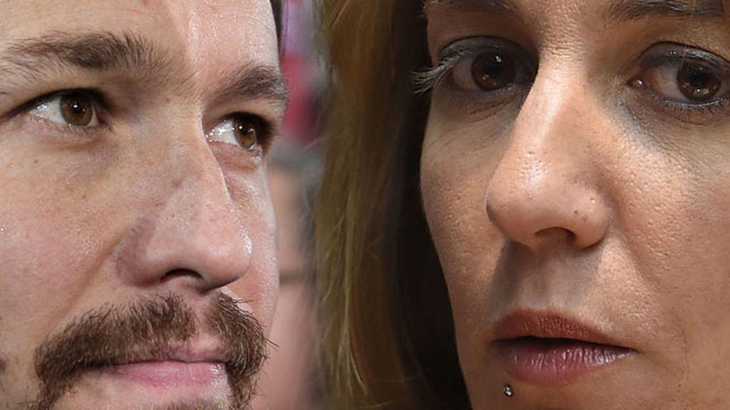 Tania Sánchez y Pablo Iglesias
