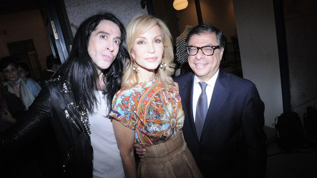"""Mario Vaquerizo y Carmen Lomana con Bob Colacello, el mítico editor de la revista """"Interview"""""""