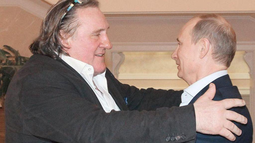 El actor francés y el presidente ruso, Vladimir Putin