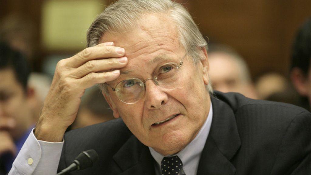 Donal Rumsfeld, secretario de Defensa estadounidense en la administración Bush