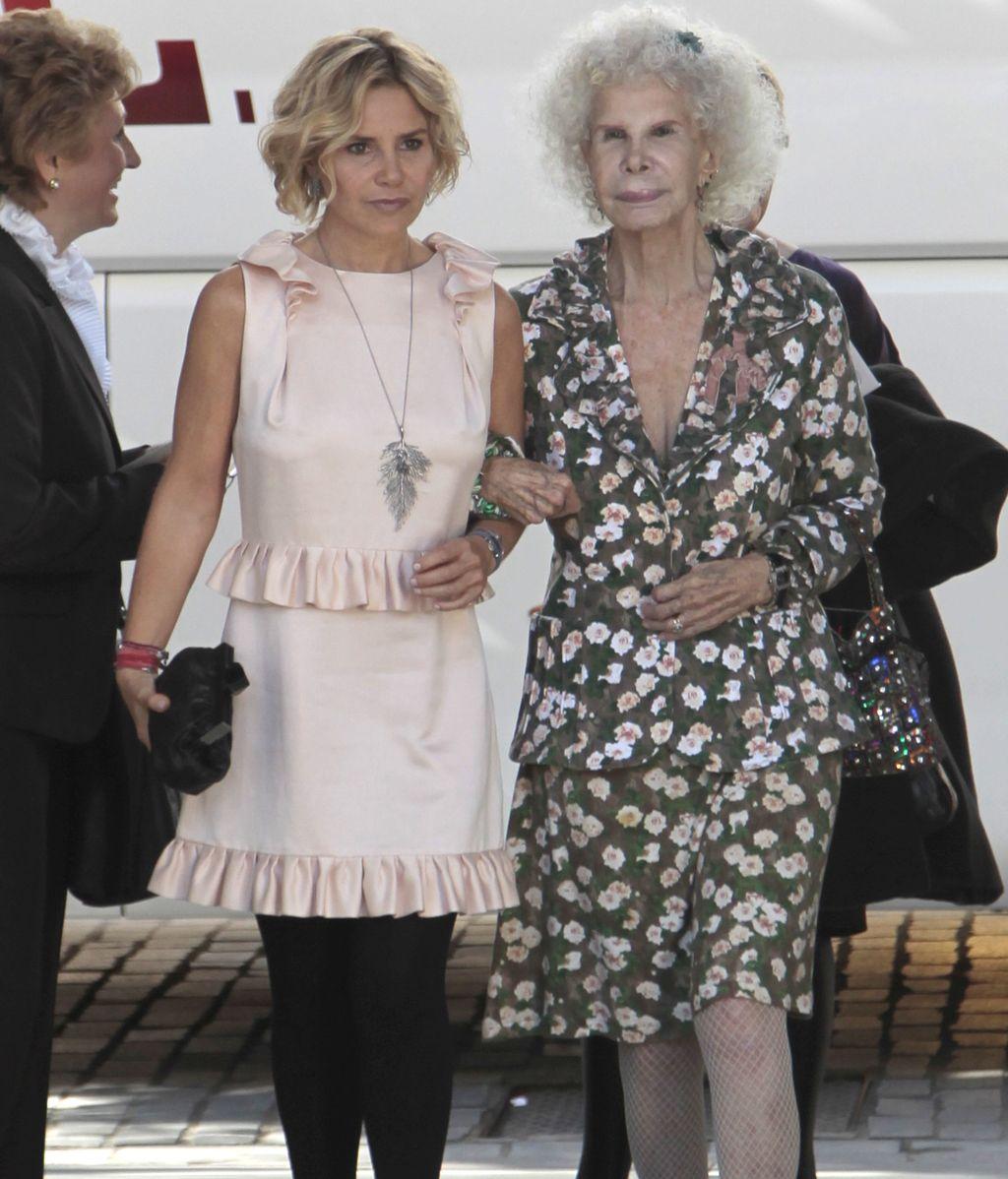 Con su hija, Eugenia Martínez de Irujo en 2010