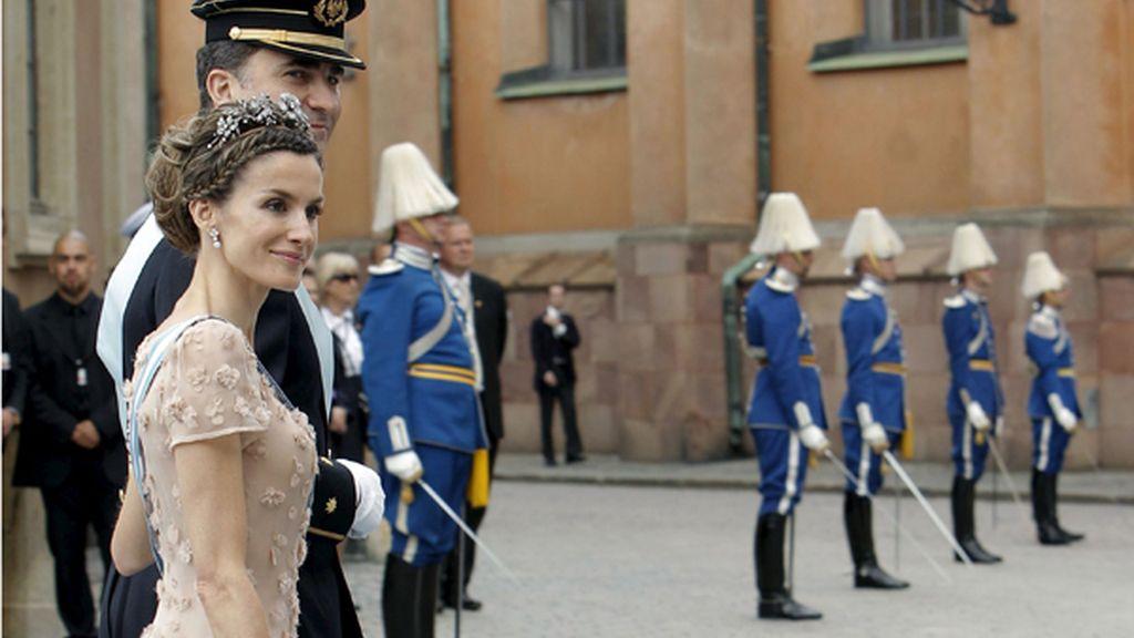 Los Príncipes de Asturias, en la boda