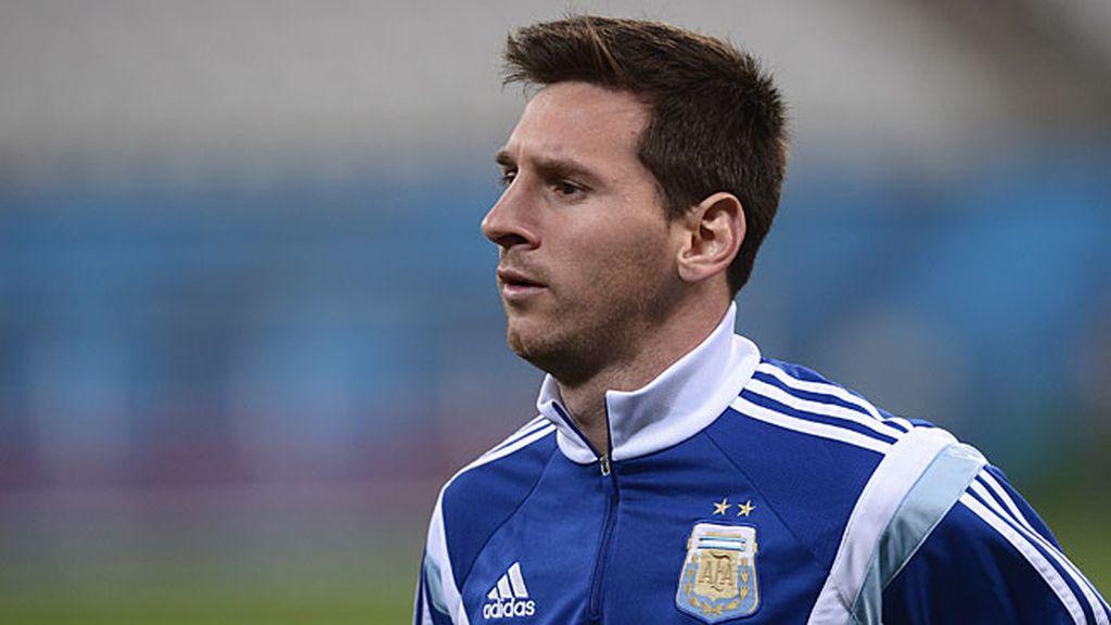 Leo Messi con Argentina