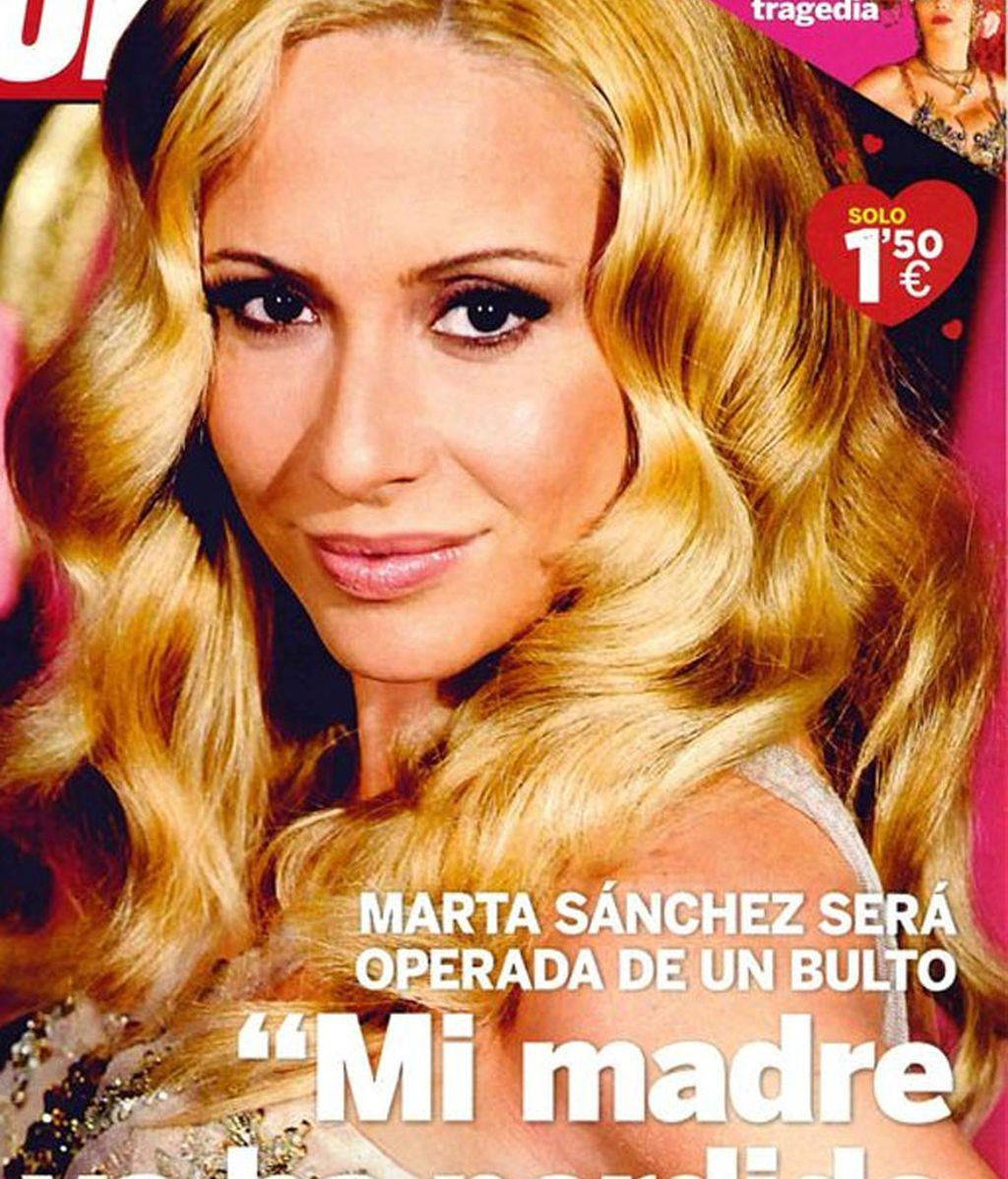Marta Sánchez será operada de un quiste