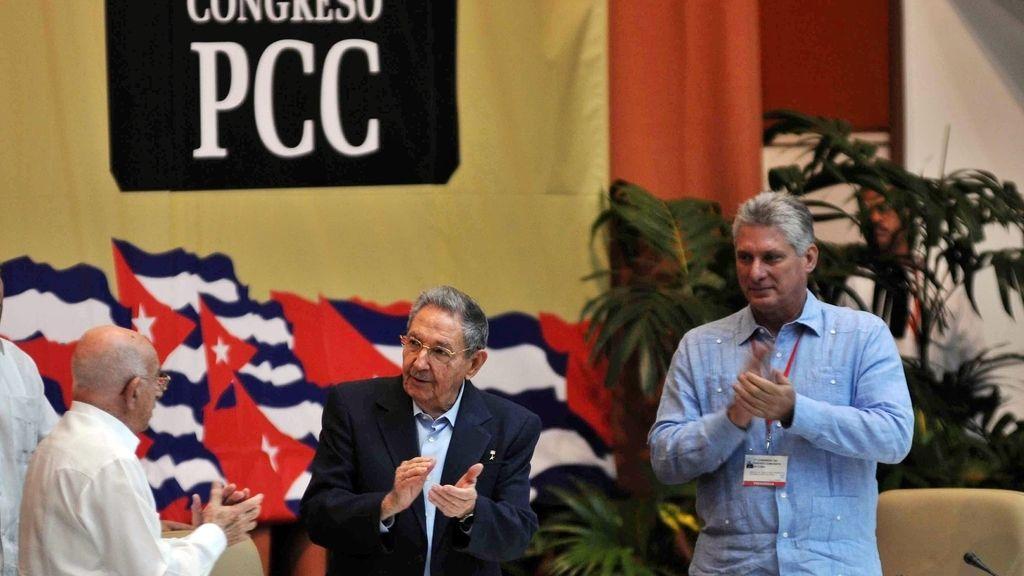 Raul Castro durante el congreso del Partido Comunista