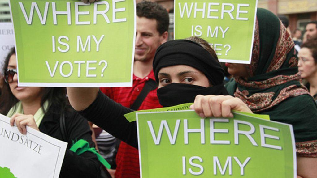 Protestas pro Musaví