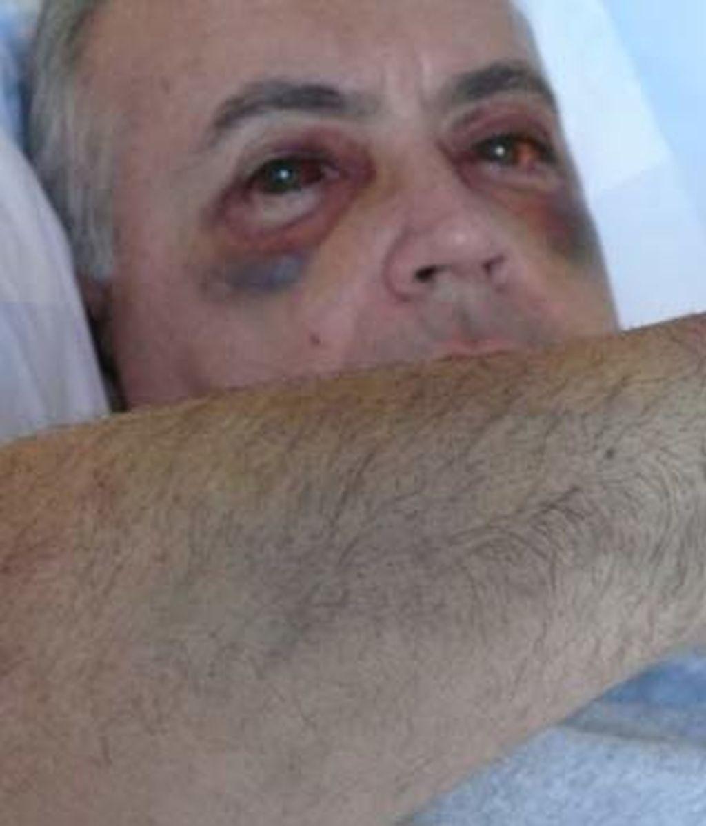 Moreno, en el hospital Puerta de Hierro. Foto: Telecinco