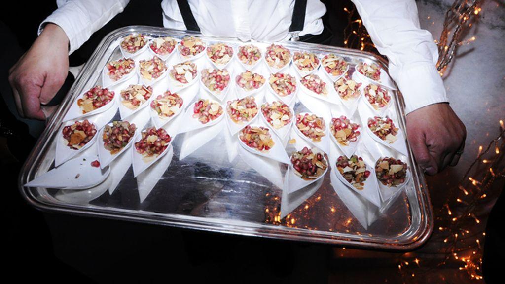 La fiesta de Tiffany´s contó con riquísimos canapés que hicieron las delicias de los invitados