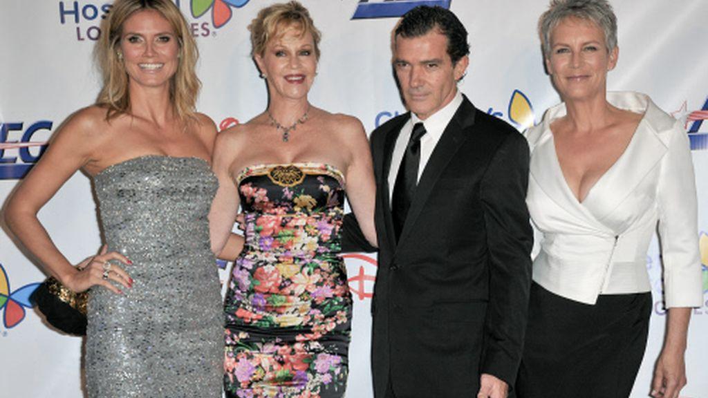 Heidi Klum, Melanie Griffith, Antonio Banderas y JamieLeeCur