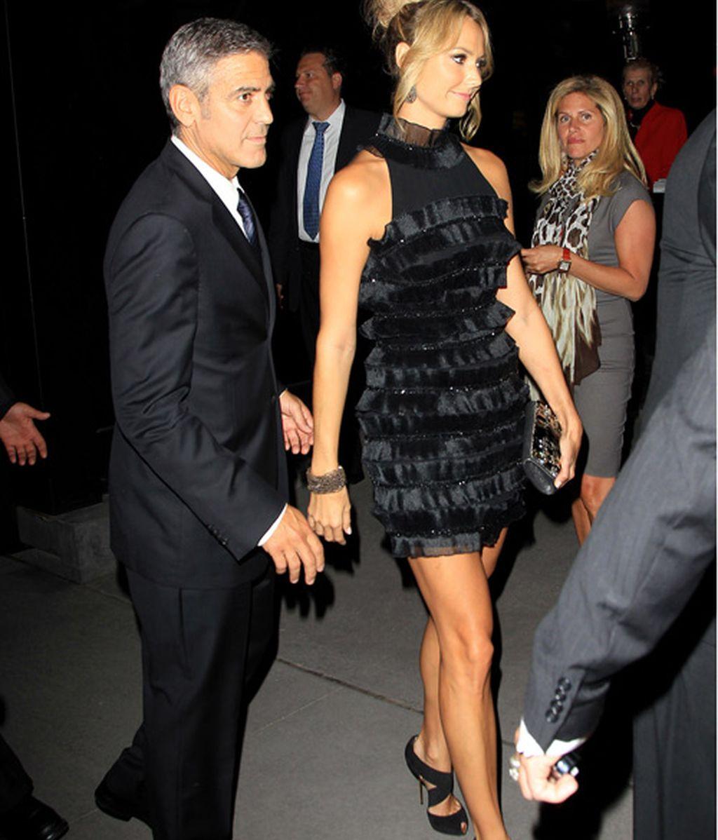 Clooney y su novia
